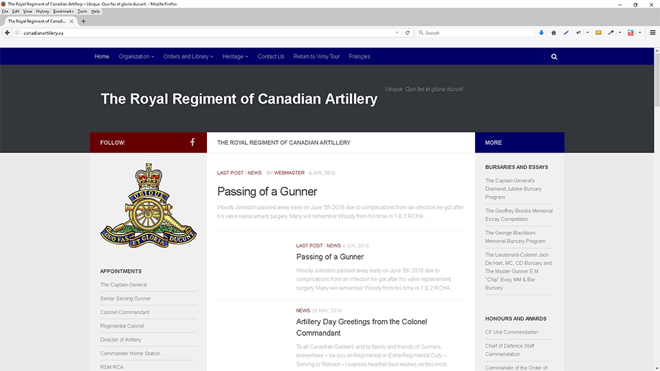 The Royal Regiment of Canadian Artillery